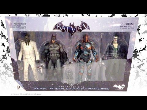 DC Collectibles Arkham Origins 4-Pack Batman, The Joker, Black Mask and Deathstroke
