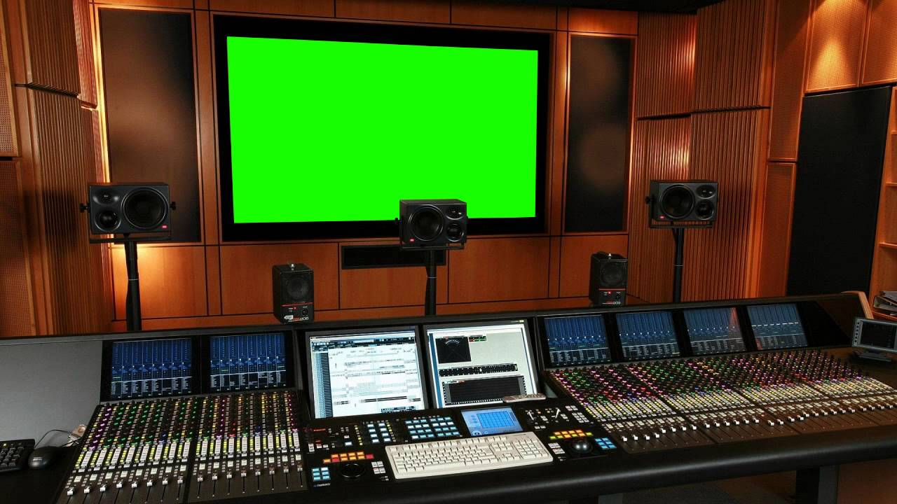 Music Recording Studio In Green Screen Free Stock Footage