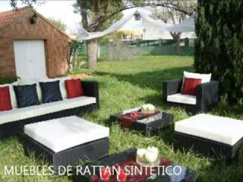 Mobiliario terraza videolike for Muebles rattan jardin baratos