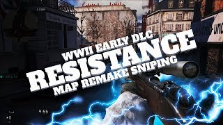 RESISTANCE REMAKE IN WW2 EARLY DLC SNIPING GAMEPLAY!!