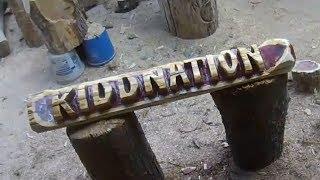 KiddNation Log by The Wood Den! Wood-Den.com