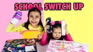OKULA DÖNÜŞ CHALLENGE !! Back To School Switch Up Challenge