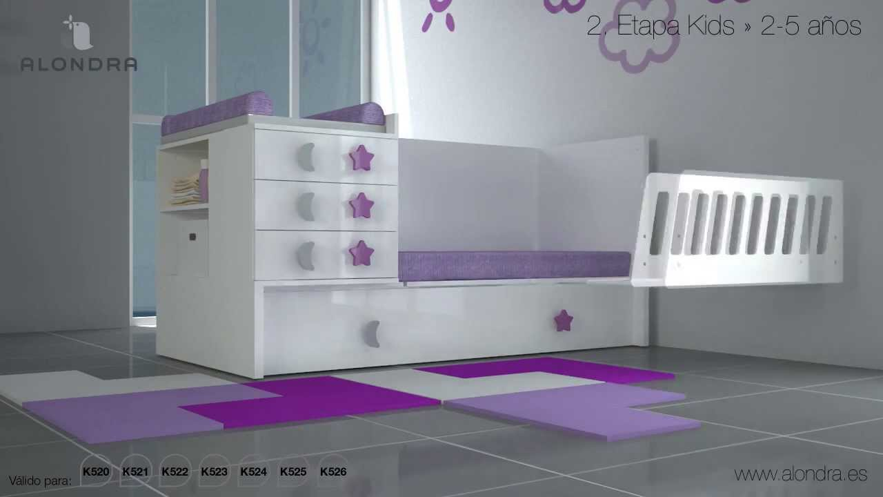 Cuna convertible barata disponible en el outlet de alondra for Dormitorios para ninas villa el salvador