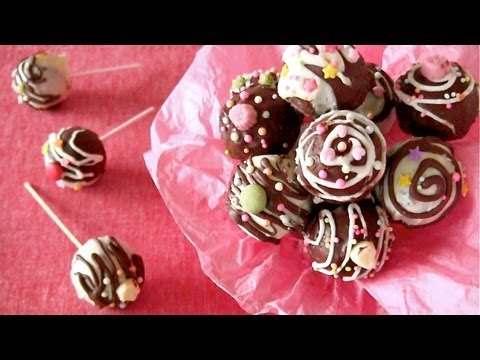 How to Make Fudgy Cake Pops (Nordic Ware Recipe) ケーキポップ 作り方 (レシピ)