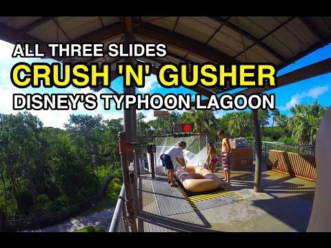 [4K] Crush 'n' Gusher - ALL 3 TUBE SLIDES : Typhoon Lagoon (Orlando, FL)