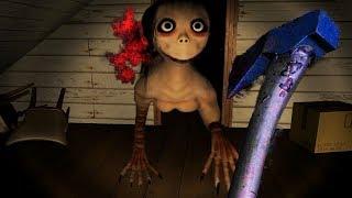 KILLING MOMO WITH AN AXE! || MOMO Creepypasta Horror Game (SECRET ENDING)  from FusionZGamer