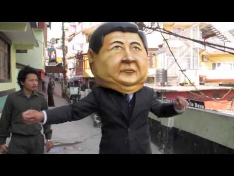 Tibetans Vs China's Xi Jinping: Gangnam Style video
