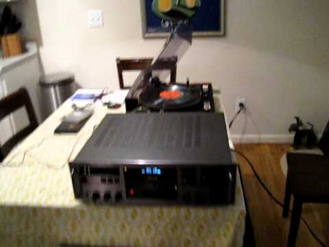 Testing my Thorens TD 126 MK II Electronic Turntable with a Carver 6250 Receiver on Nigel Tufnel Day