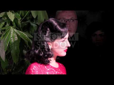 Dita Von Teese Photocall and Interview at Nikki Beach Club in Cannes
