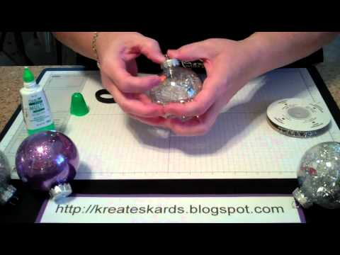 Using Stampin  Up! Products to create Christmas Ornaments - KreatesKards Tutorial: