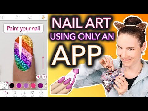 Recreating My Old Nail Art Using Only an App