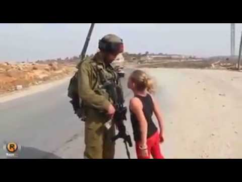 Brave Palestinian girl  vs Israeli Soldiers - Where is my brother?