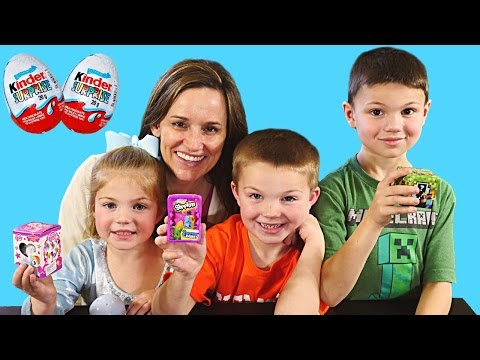 DCTC Fans Surprise Egg Opening Kinder Eggs Shopkins Minecraft Barbie Hello Kitty MLP Toys