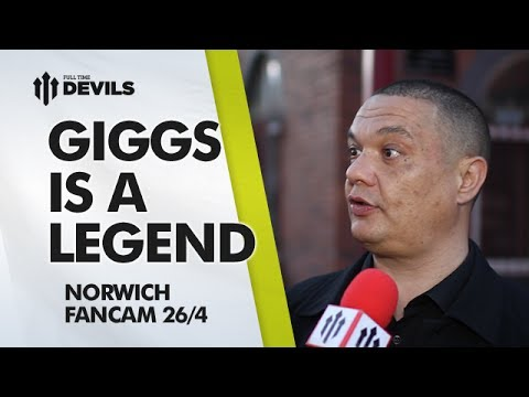 Giggs Is A Legend! | Manchester United 4-0 Norwich City | FANCAM