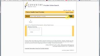 Coventry Provider Lookup