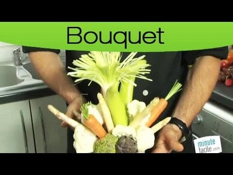 astuces faire un bouquet de l gumes youtube. Black Bedroom Furniture Sets. Home Design Ideas