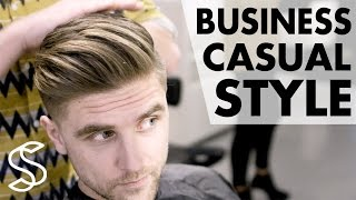 Professional men's hairstyling - Business casual - Short sides 4k hairstyle Slikhaar TV hairstyles