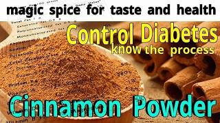 Cinnamon Powder control Diabetes video