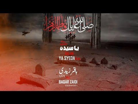 Ya Sayeda Sa Shadman Raza Naqvi New Noha Ayame Fatima Zahra Sa 2019/ 1440