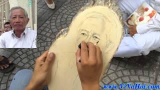 Vẽ Chân Dung Truyền Thần Nghệ Thuật Trên Tấm Gỗ Quá Đỉnh