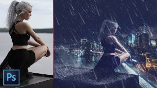 Rain Effect | Photoshop Manipulation | Photoshop Tutorial