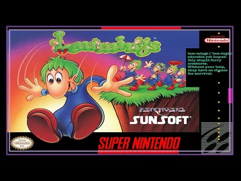 SNES Super Side Quest Game # 54 Lemmings [2/3]