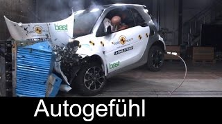 Smart fortwo & Smart forfour 2015 crash test 4/5 stars - Autogefühl