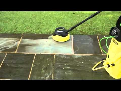 Cleaning patios with Karcher Pressure Washer and Patio Accessories