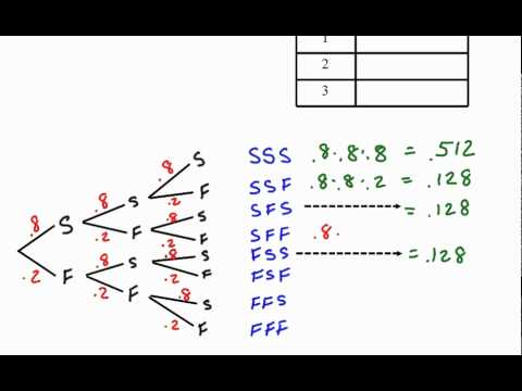 Binomial Distribution Example with a Tree Diagram