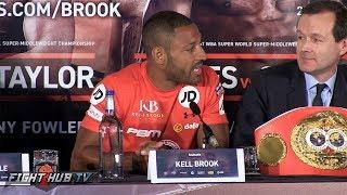 THE FULL Kell Brook vs Errol Spence Final Press Conference Video - Sheffield, England