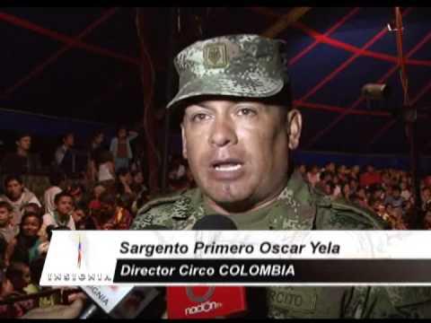 El Circo Colombia del Ejército Nacional, presenta su espectáculo en Planadas, Tolima