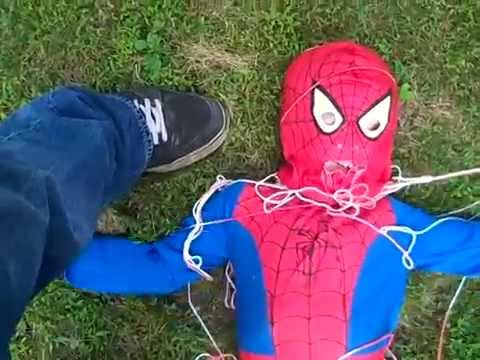 Avengers Assemble!   Batman saves Iron Man, Spiderman, and Captain America!! (Plus Catwoman!)