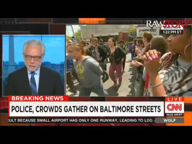 Wolf Blitzer interviews Deray McKesson about violence in Baltimore