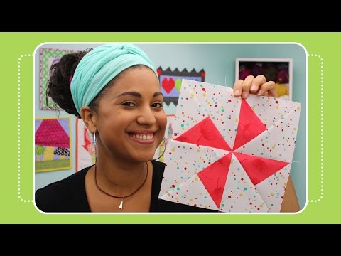 How to Make a Turnstile Quilt Block - Crafty Gemini Tutorial