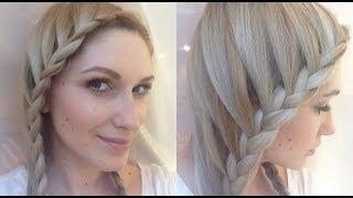 Простые причёски с плетением кос в