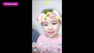 Baby Reacts to Snapchat Filter