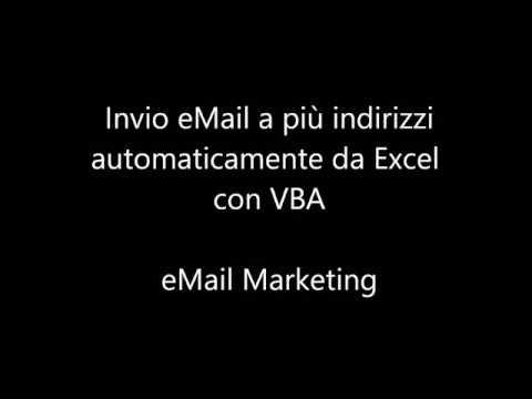 Invio eMail a più indirizzi automaticamente da Excel con VBA #eMail Marketing