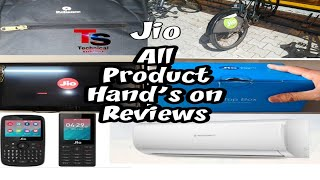 Jio all products hand's on review || jio setop box || jio Hotspot s,,,, and munch more jio product