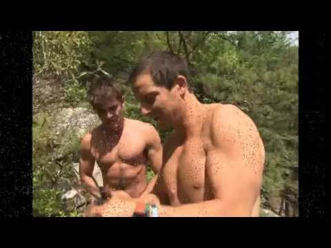 Zac Efron goes shirtless as he jumps off a cliff on Running Wild With Bear Grylls