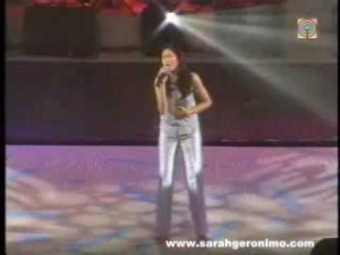 Sarah Geronimo singing The Voice Within