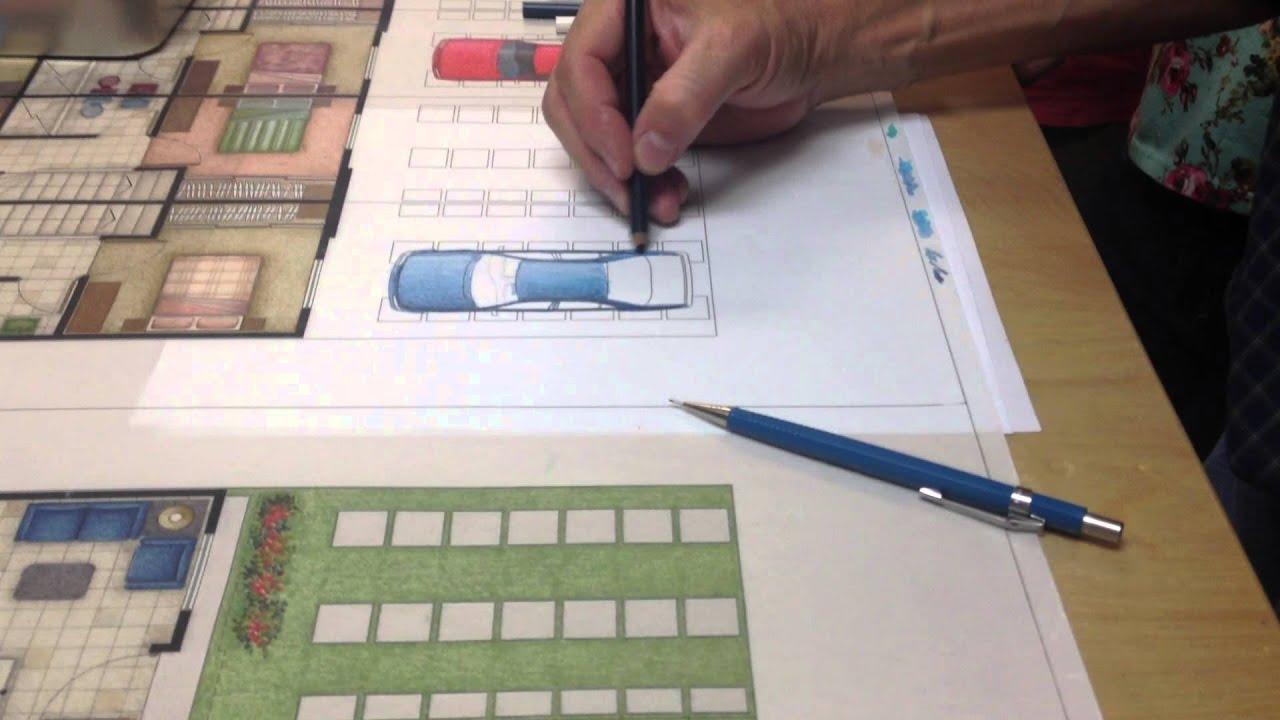 Representaci n de carro en planta youtube for Representacion arquitectonica en planos