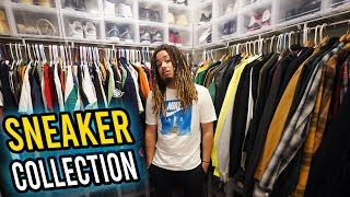 INSIDE MY ENTIRE SNEAKER AND CLOTHING COLLECTION !!! MULTIPLE ROOMS OF SNEAKERS !!!