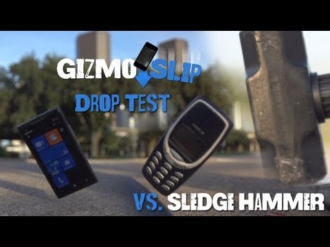 Drop Test: Nokia Lumia 900 vs Nokia 3310 (Vs. Sledge Hammer)