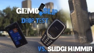Drop Test_ Nokia Lumia 900 vs Nokia 3310 (Vs. Sledge Hammer)