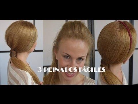 Peinados fáciles, rápidos y bonitos para jóvenes, para clase, el trabajo 14
