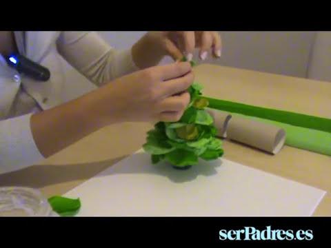 Manualidades con niños: abeto de papel pinocho