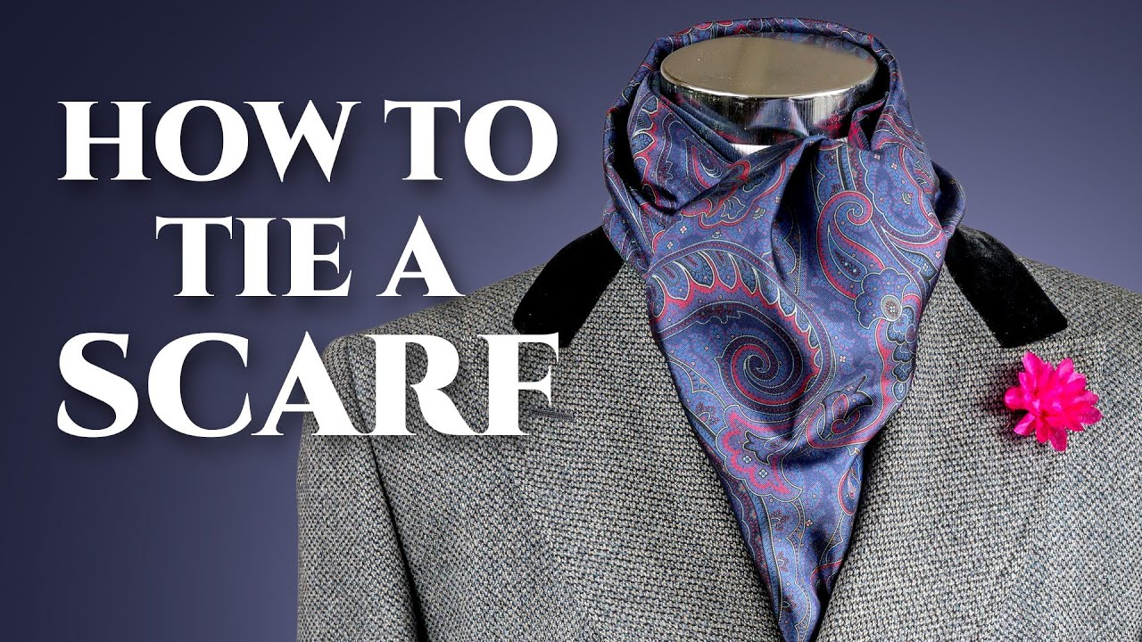 How to tie a scarf men fashion 49