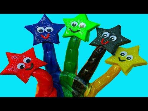 Учим цвета Сборник Видео для малышей Поем песню про пальчики Семья пальчиков Пальчиковые краски