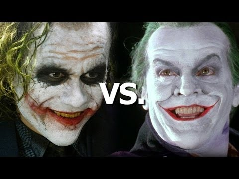 Heath Ledger vs. Jack Nicholson as The Joker