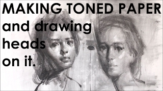How To Tone Paper And Draw Head On It